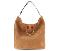 Tasche Large Pierce Hobo aus Veloursleder