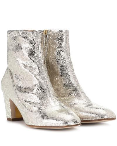 Ankle Boots Fernie aus Metallic-Leder