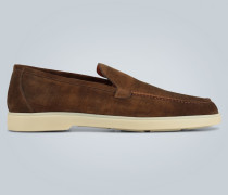 Loafers aus Veloursleder