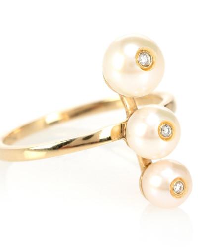 Ring Ménage à Trois aus 9kt Gold