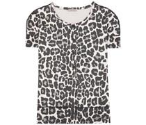 T-Shirt aus Baumwolle mit Leopardenprint