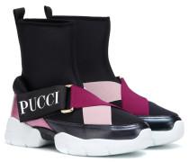 Sneakers mit Lederanteil