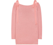 Off-Shoulder-Pullover aus Cashmere