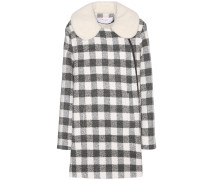 Karierter Mantel aus einem Woll-Alpaka-Gemisch