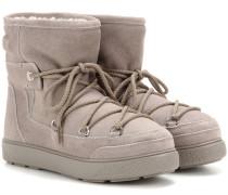 Boots New Fanny aus Veloursleder