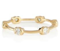 Ring Zea aus 18kt Gelbgold mit Diamanten