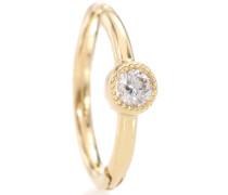 Ohrring Diamond Scalloped Clicker aus 18kt Gold