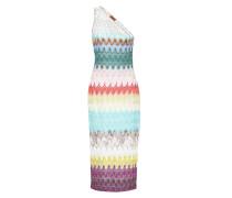 One-Shoulder-Kleid aus Häkelstrick