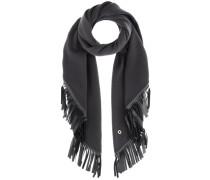 Schal aus Cashmere und Leder