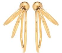 Vergoldete Ohrringe Tripple Layered Hoops