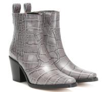Ankle Boots Western aus Leder