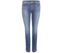 Mid-Rise Skinny Jeans Split aus Stretchdenim