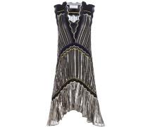 Plissiertes Lamé-Kleid