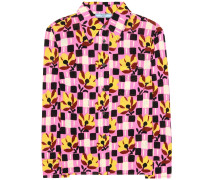 Bedruckte Bluse aus Crêpe