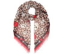 Schal mit Seide