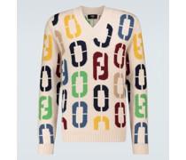 Pullover aus Schurwolle mit Intarsie