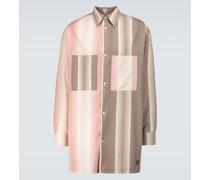 Oversize-Hemd aus einem Wollgemisch