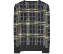 Karierter Pullover aus Wolle und Cashmere