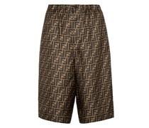 Shorts FF aus Seiden-Twill