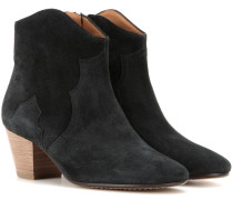 Étoile The Dicker Ankle Boots aus Veloursleder