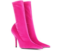 Ankle Boots Knife aus Samt