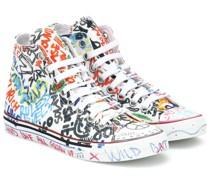 High-Top-Sneakers Graffiti aus Canvas