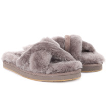 Slippers Abela aus Shearling