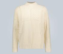 Patchwork-Pullover aus Baumwolle