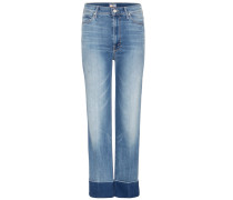 The Maverick Cuff High-rise cropped Jeans
