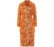 Taillierter Mantel mit Metallic-Look