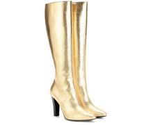 Stiefel Lily 95 Tall aus geprägtem Metallic-Leder