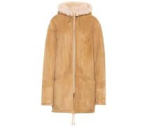 Mantel aus Leder mit Fell (SEASON 5)