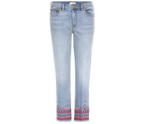 Cropped Jeans Myers mit Stickerei