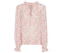 Bedruckte Bluse aus Georgette