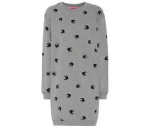 Sweatshirt-Kleid aus Baumwolle mit Print