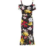 Bedrucktes Kleid aus Stretch-Seide