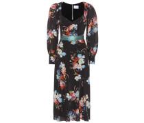 Bedrucktes Kleid Berdine aus Seide