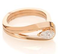 Ring Serti Inversé aus 18kt Roségold mit Diamant