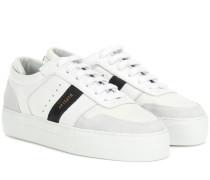 Sneakers Platform aus Leder