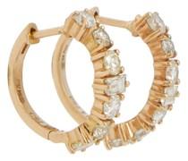 Creolen Rivulet aus 18kt Gelbgold mit Diamanten
