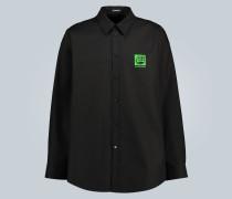 Oversize-Hemd Green Logo