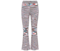 Cropped Hose aus Wolle