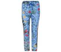 Jersey-Hose mit Blumen-Print