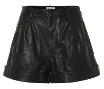High-Rise Shorts Abot aus Leder