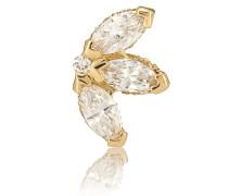 Einzelner Ohrring Lotus aus 18kt Gelbgold und Diamanten