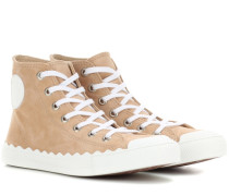 High-Top-Sneakers Kyle aus Veloursleder
