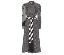 Kleid Monoprint aus Seiden-Twill
