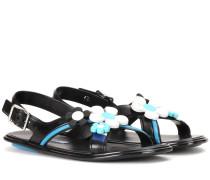 Verzierte Sandalen aus Gummi