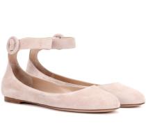 Exklusiv bei mytheresa.com – Ballerinas Virna Flat aus Veloursleder