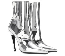 Ankle Boots Slash Heel aus Metallic-Leder